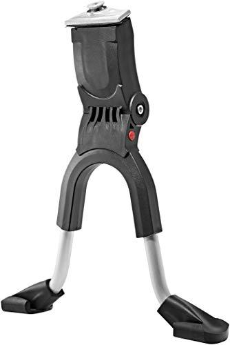 Hebie Unisex– Erwachsene Zweibeinständer-2260364100 Zweibeinständer, schwarz/Silber, Einheitsgröße