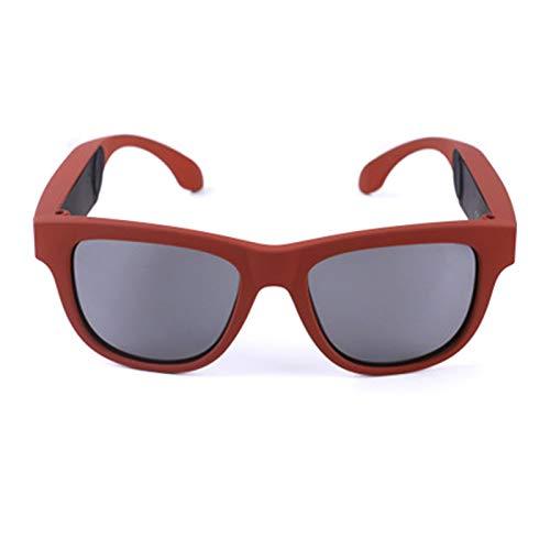 RHSMW Gafas Inteligentes de conducción ósea, Gafas de Sol polarizadas Bluetooth 5.0 UV400, táctiles inalámbricos Impermeables para Deportes al Aire Libre Que se Pueden equipar con miopía,d
