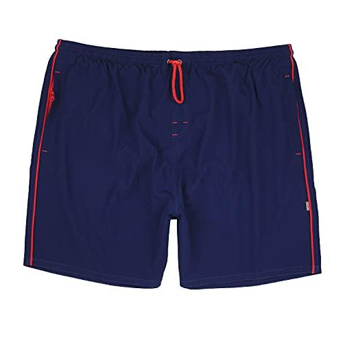 Adamo - Pantaloncini da spiaggia, modello Elba, taglie grandi fino a 12XL Blu XXXXXL