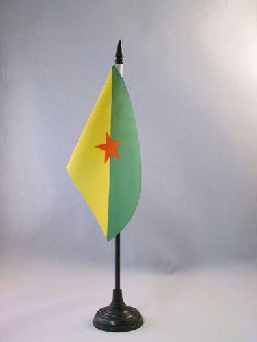 AZ FLAG Drapeau de Table Guyane 15x10cm - Petit Drapeaux DE Bureau guyanais - France 10 x 15 cm