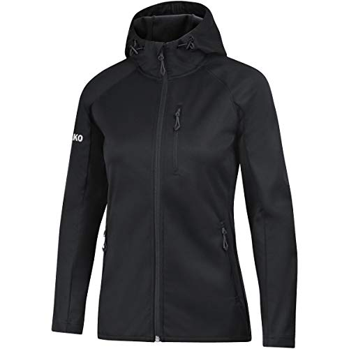 JAKO Damen Softshelljacke Light Softshell-jacken, Schwarz, 36
