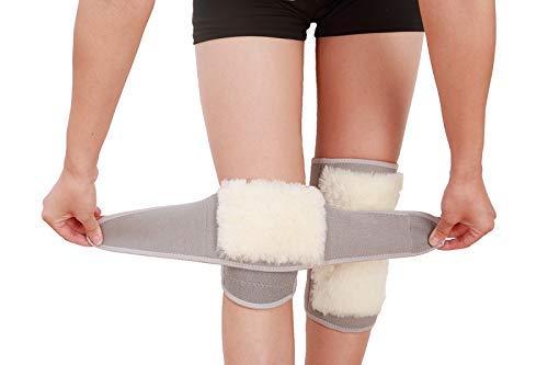 Sywlwxkq Kniebeschermer, warm houden, ademend, duurzaam, koude leg, winter, middelmatige ouderdomsbontlijm, dragen, verdikte beschermende verf