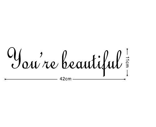 Muursticker Je bent een mooie spiegel. Plak onze stickers. Kijk elke dag in de spiegel. Je bent prachtig.