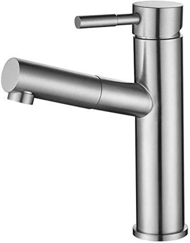 Grifo mezclador para lavabo Grifo para lavabo de baño Grifo para lavabo retráctil para baño frío y caliente Lavabo para baño Grifos mezcladores para baño