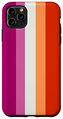iPhone 11 Pro Max Lesbian Pride Flag - Purple, White, Orange Case