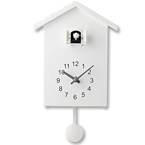 PlumRiver 鳩時計 掛け時計 置き時計 2Way 振り子時計 アナログ リビング かわいい 北欧 ハト時計 はと時計 壁掛け カッコウ時計 カッコー時計 ぽっぽ時計 静音 子供 ギフト お祝い 新築祝い プレゼント からくり時計 仕掛け時計 おうち時間 ホワイト