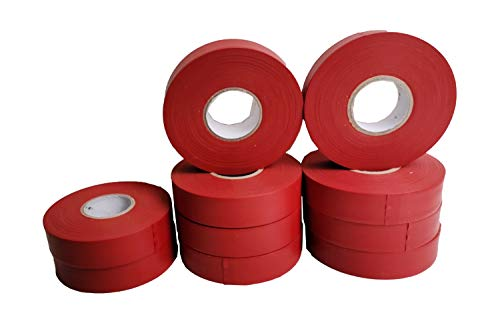 """Flagging Tape for Boundaries and Hazardous Areas, Surveying Tape Non-Adhesive with 1"""" Width, 150' Length -40F Temperature Resistance at Winter (Pack of 10) (Red)"""