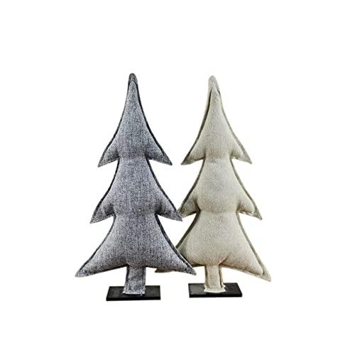 xuejuanshop Adornos de Navidad Tela Gris Ropa de Navidad Árbol de Navidad Decoración de Escritorio (Color : Grey)