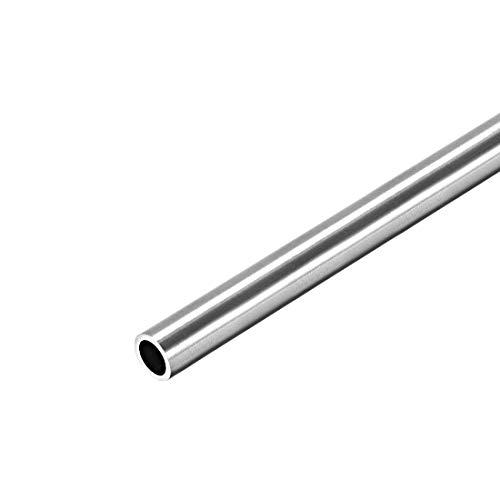 uxcell 丸チューブ 丸管 丸パイプ 304ステンレス鋼 8mm OD 1mm 250mm長さ シームレス直管チューブ