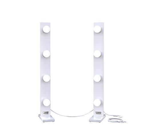 LAMPS4MAKEUP Schminktischlampen – Hollywood Spiegelbeleuchtung – Beleuchtung für Makeup Schrank - Beauty Light - 4 x 4 Lampen