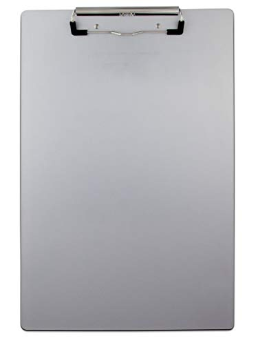Saunders 21511 Recycled Aluminum Clipboard - Silver, Legal Size, 8.5 in. x 14 in. Document Holder with Low Profile Clip