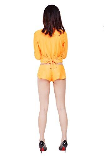 ゆったりさが可愛すぎる ショートパンツ ホットパンツ 超特大100kgサイズ, オレンジ