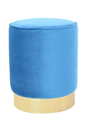 V Vascavi Sitzpouf in moderner Form | als Schminktisch Sitzhocker Pouf Sitzpouf Pouf Schminkhocker | Blau