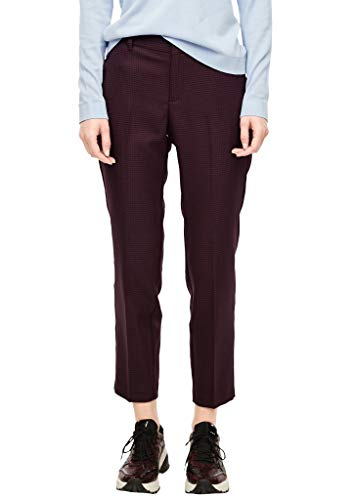 s.Oliver Damen Ankle-Hose mit Herringbone-Muster red Check 46