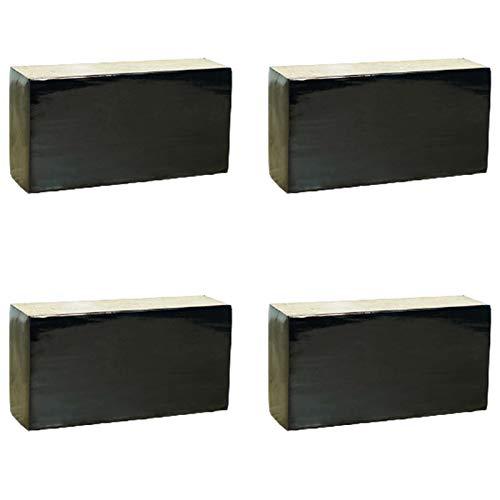 4x Patas para Muebles,Pies de Sofá de Madera Maciza,Patas de Mesa de Pino,Patas de Soporte para Mesa de Centro,Piernas de Mueble de TV,Carga 500 kg(black8cm(3.1in))