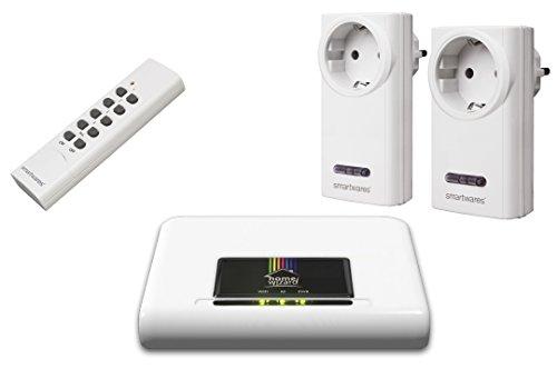 Smartwares HWK-000 SmartHome HomeWizard Starterset, IP Gateway Box, 2X Funkschalter, 1x...
