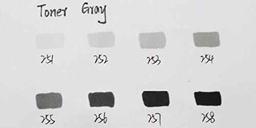 Ef102 Professionele Dual Point-borstel Op alcohol gebaseerde inkt Grijze inkt Series Art Markers, grijze toner