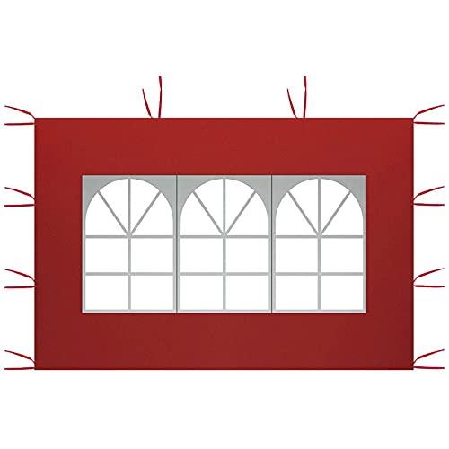 Paneles laterales de toldo de 3 m x 2 m, paneles laterales de repuesto, panel lateral de la tienda de campaña, panel lateral impermeable 210D tela Oxford superficie superior de la tienda de campaña