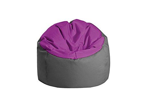 Jumbo Bag 30170–17Sitzsack Globe Polyester aubergine/anthrazit 70x 70x 70cm