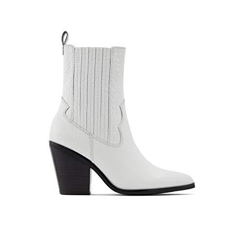 ALDO Drerissa Damen-Stiefeletten mit Blockabsatz, Weiá (Weiß/Mehrfarbig), 36.5 EU