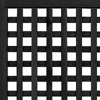 枠付きラティス 格子B(枠幅40mm) 国産杉 幅1180mm×高さ1556mm CB(チャコールブラック)色