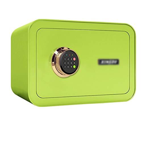 Dozen & Organisatoren Veilige sleutelslot, kleine elektronische digitale wachtwoord veilige kast met alarmsysteem kassa - veelkleurig -35X28X25cm Cash Safe Box 5-7 Groen