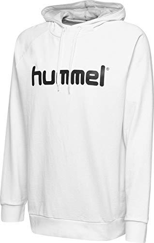 Hummel Herren HMLGO COTTON LOGO HOODIE Kapuzenpullover, Weiß, XL
