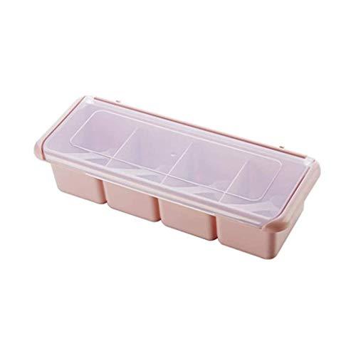 Suministros de cocina Conjunto de caja de condimentos de plástico, tarros de especias Cocina Spice Rack SAL Azúcar Spice Pimienta Condimento Contenedor Cocina CRUTRE TEMPORADORES Herramientas (Color: