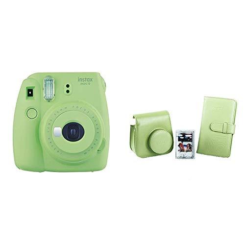 Fujifilm Instax Mini 9 - Kit Completo (Cámara instantánea, funda desmontable con cierre magnético, álbum 108 fotos, marco de metacrilato), Verde