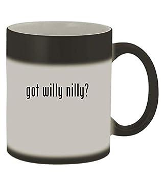 got willy nilly? - 11oz Magic Color Changing Mug Matte Black