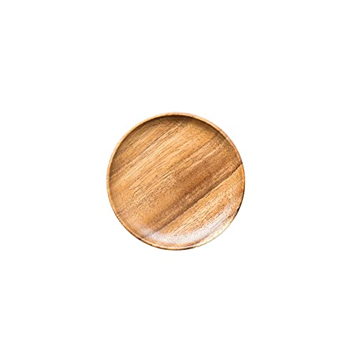 zhaohupinpai Bandeja para servir de madera creativa de estilo japonés, bandeja para servir aperitivos, madera entera pulida de madera de acacia, tacto de madera cruda natural, apto para ensaladas de a