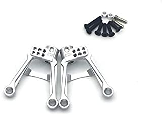 ATOP RC Aluminum Rear Shock Damper Tower Mount Hoops for AXIAL SCX10 II 90046 90047 1:10 RC Car (Silver)