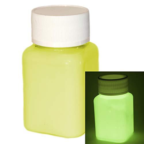 lumentics Premium Leuchtfarbe Gelb 100ml - Im Dunkeln leuchtende Farbe, Helle Nachleuchtfarbe, Selbstleuchtende Wandfarbe, UV Glühfarbe, Glow