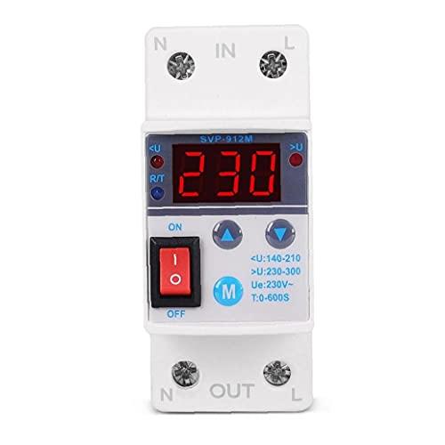 Bajo Sobre el voltaje protector SVP-912m ajustable inteligente Reconexión automática Protección contra sobretensiones