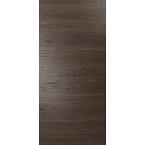 Panel Eco-Veneer Wood Modern Slab 28 x 84 | Planum 0010 Chocolate Ash | Use as Barn Pocket Bypass Closet Door | 1 3/5 inches Thickness