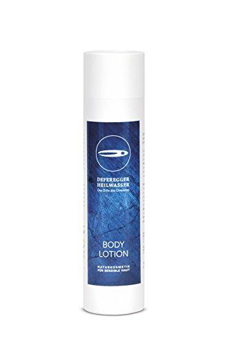 Bodylotion 250ml - Hautpflege und Hautschutz bei trockener, juckender, schuppiger, geröteter Haut - ohne Cortison - 100% natürliches Deferegger Heilwasser - mit vielen wertvollen Mineralstoffen
