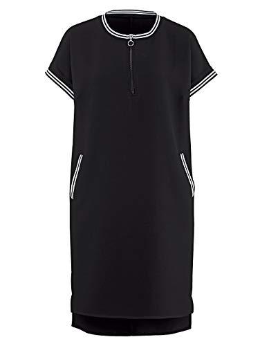 Alba Moda Damen Kleid Athleisure Schwarz 44 Kunstfaser