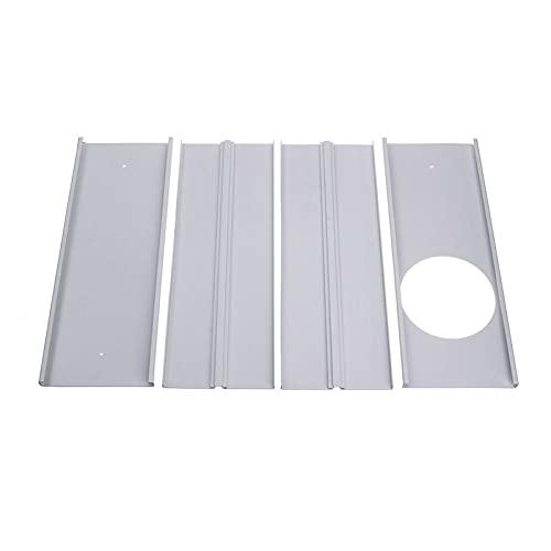 GeGe 5pcs Set Air Condizionatore Adattatore per finestre Adatta per Il Kit di Piastre di Diapositive della Piastra di Guarnizione della Finestra Regolabile del condizionatore dell'Aria Portatile