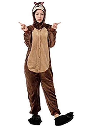 Pijamas Disfraces Onesie Animal Adultos kigurumi Carnaval Halloween o Fiesta Espectáculo Navideño Mono Cosplay Ropa Interior de Zoológico Invierno Unisex Mujeres y Hombres