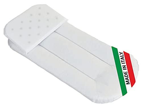 Baby Nana - Juego completo de colchón, cojín fabricado en Italia, de fibra de coco para cochecito de bebé, revestimiento de algodón 100%, ideal para verano/invierno, Oeko-tex®, 72 x 33 x 4 cm