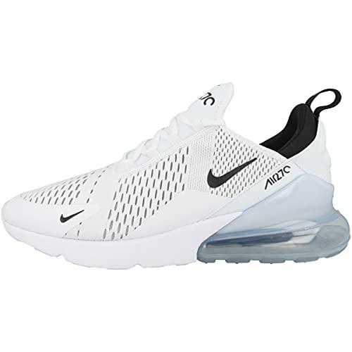 Nike Herren Air Max 270 Sneaker, White Black White, 47.5 EU