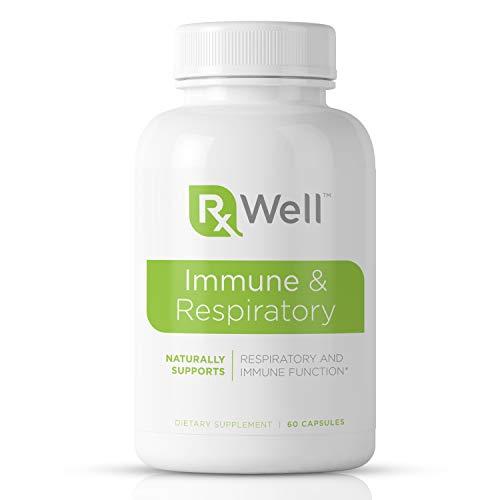 RxWell Immune & Respiratory: Quercetin, Vitamin C, Zinc, D3 | 12-in-1 Immune Support with Cordyceps, Beta-Glucan, Artemisia Annua, Pomegranate Extract, Perilla Seed, Bupleurum, Sweet Basil, Palm Fruit
