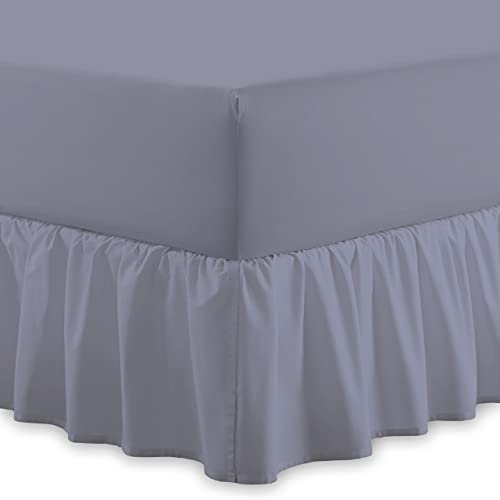 Valance Sheet Easy Care, Frill Bed Sheets, Fits 25 Cm Mattress With Drop Frill 40 Cm, Single, Double, 4 Feet, King And Super King