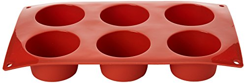 Pavoni N933 Formaflex Silicone Muffin Mould, 6 Cups