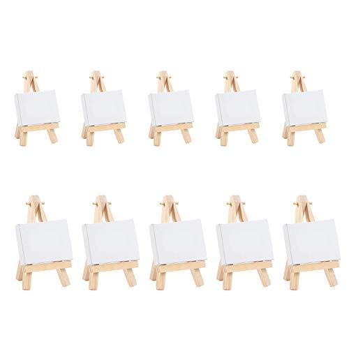 NBEADS Mini Tela, 10 Set 2 Dimensioni Cavalletto In Legno Tela Pieghevole Piccolo Cavalletto Pittura Pannello Per Arte Disegno E Decorazione