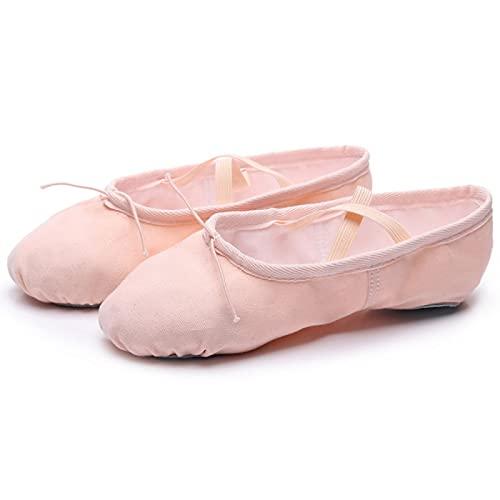 AGYE Zapatillas de Ballet Canvas, Zapatillas de Ballet de Lona para Niñas,Zapatilla de Ballet/Zapato de Baile de Yoga (niño/Niño Pequeño/Niño Grande/Mujer/Niño),Pink-38