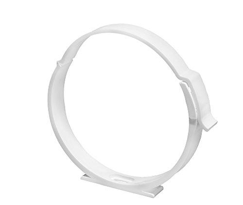 Awenta Collier de serrage avec support pour tube de ventilation en plastique ABS, diamètre de 100 mm, tube de ventilation Awenta en PVC 100 mm