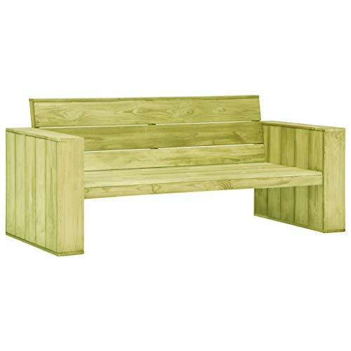 Festnight Tuinbank Eetkamerstoel, fauteuil Receptie Gaststoel voor thuis, kantoor, woonkamer, slaapkamer, eetkamer, woonkamer, keuken, balkon 179 cm geïmpregneerd grenenhout