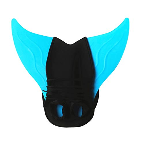 YISHU Meerjungfrauenflosse zum Schwimmen Kinder Erwachsene Kostüm Meerjungfrauenschwanz für Mädchen und Damen Flosse Erwachsene Blau
