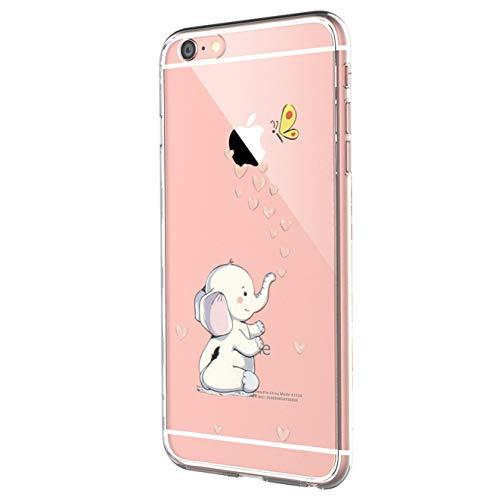 JEPER Kompatibel Hülle für iPhone 6 6S, Handyhülle für iPhone 6S Schutzhülle Case Silikon Crystal Clear Ultra Dünn Premium TPU Handyhülle Durchsichtige Backcover für Apple iPhone 6 6S (Pattern 27)
